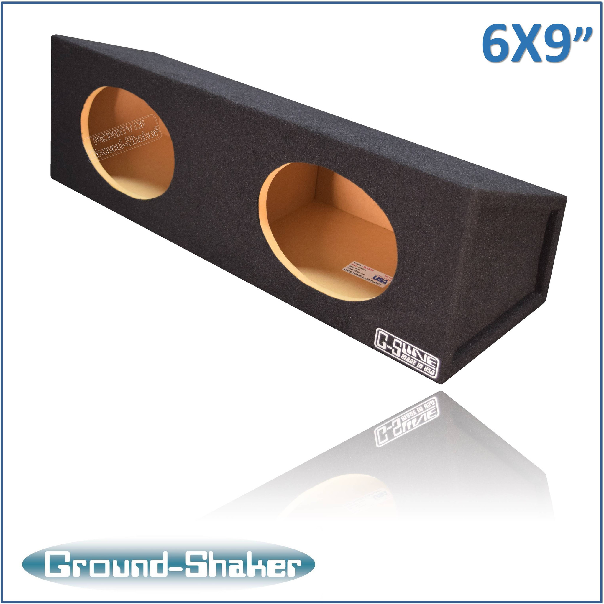 "black ""10x10"" dual speaker enclosure"
